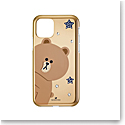 Swarovski Mobile Phone Case Line Friends iPhone 11 Pro Case Multi Brown