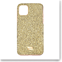 Swarovski Mobile Phone Case High iPhone 11 Pro Max Case Gold Stainless Steel Shiny Gold