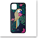 Swarovski Mobile Phone Case Tropical iPhone 11 Pro Max Case Multi Parrot