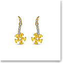 Swarovski Botanical Pierced Earrings Flower Gold