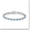 Swarovski Crystal Tennis Deluxe Light Blue and Rhodium Silver Bracelet
