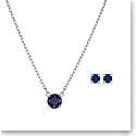 Swarovski Set Attract Set Round Crystal Rhodium Silver Anni