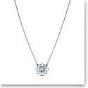 Swarovski Necklace Sunshine Pendant Med Crystal Light Blue Rhodium Silver