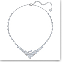 Swarovski Necklace Dancing Swan All-Around Tlk Crystal Rhodium Silver