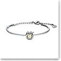 Swarovski Bracelet Sparkling Dance Bangle Cat Yellow Crystal Rhodium Silver M