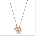 Swarovski Necklace Eternal Flower Pendant Crystal Rose Gold