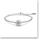Swarovski Bracelet Eternal Flower Bangle Yellow Crystal Mix M