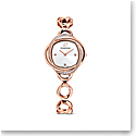 Swarovski Crystal Flower Watch, Metal Bracelet, Rose Gold Tone, Rose Gold Tone