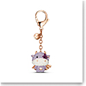 Swarovski Zodiac Cow Bag Charm, Purple, Rose Gold Tone Plated
