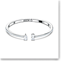 Swarovski Attract Cuff Bracelet, White, Rhodium Plated