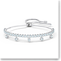 Swarovski Subtle Drops Bracelet, White, Rhodium Plated