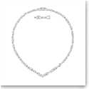 Swarovski Tennis Deluxe Mixed V Necklace, White, Rhodium Plated