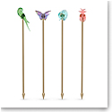 Swarovski Jungle Beats Cocktail Stirrers Andoki, Set of 4