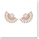 Swarovski Sparkling Dance Dial Up Pierced Earrings, Gray, Rose Gold Tone Plated