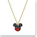Swarovski Mickey Pendant Necklace, Black, Gold Tone Plated
