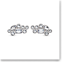 Swarovski Shoe Clips, White, Rhodium Plated