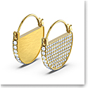 Swarovski Ginger Hoop Pierced Earrings, White, Gold Tone Plated
