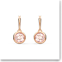 Swarovski Tahlia Mini Hoop Pierced Earrings, Pink, Rose Gold Tone Plated