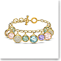 Swarovski Tahlia Elements Bracelet, Multicolored, Gold Tone Plated
