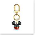 Swarovski Disney Bag Charm Black and Gold Mickey