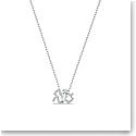 Swarovski Zodiac Pendant Necklace, Aquarius, White, Mixed Metal Finish