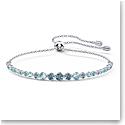 Swarovski Emily Gradient Bracelet, Blue, Rhodium Plated