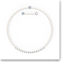 Swarovski Treasure Pearls Necklace, White, Rhodium Plated