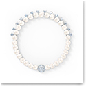 Swarovski Treasure Pearl Bracelet, White, Rhodium Plated
