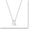 Swarovski Zodiac Pendant Necklace, Leo, White, Mixed Metal Finish