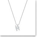 Swarovski Zodiac Pendant Necklace, Pisces, White, Mixed Metal Finish