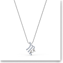 Swarovski Zodiac Pendant Necklace, Virgo, White, Mixed Metal Finish