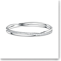 Swarovski Twist Rows Bracelet, White, Rhodium Plated