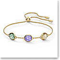 Swarovski Tahlia Bracelet, Multicolored, Gold Tone Plated