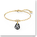 Swarovski T Bar Bracelet, Gray, Gold Tone Plated