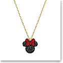 Swarovski Minnie Pendant Black, Gold Tone Plated