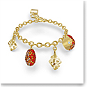 Swarovski The Elements Bracelet, Red, Gold Tone Plated