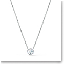 Swarovski Angelic Round Pendant Necklace, White, Rhodium Plated