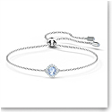 Swarovski Angelic Cushion Bracelet, Blue, Rhodium Plated