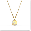 Swarovski The Elements Pendant Necklace, Yellow, Gold Tone Plated