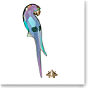 Swarovski Jungle Beats Magnet Parrot Shiny Green, Large