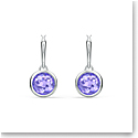 Swarovski Tahlia Mini Hoop Pierced Earrings, Purple, Rhodium Plated