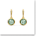 Swarovski Tahlia Mini Hoop Pierced Earrings, Green, Gold Tone Plated