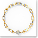 Swarovski The Elements Chain Bracelet, White, Gold Tone Plated