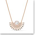 Swarovski Sparkling Dance Dial Up Necklace, Medium, Gray, Rose Gold Tone Plated
