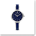 Swarovski Watch Crystalline Delight Stainless Case, Bangle Blue Enamel