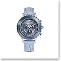 Swarovski Watch Octea Lux Chrono Stainless Case Denim Blue Dial, Denim Blue Leather Strap