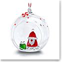 Swarovski Holiday Cheers Ball Ornament Santa Claus
