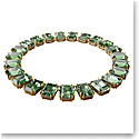 Swarovski Millenia Necklace, Octagon Cut Crystals, Green, Gold-Tone Plated