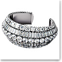 Swarovski Hyperbola Cuff, Large, White, Rhodium Plated