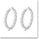 Swarovski Millenia Hoop Earrings, Triangle Swarovski Zirconia, Multicolored, Rhodium Plated, Pair